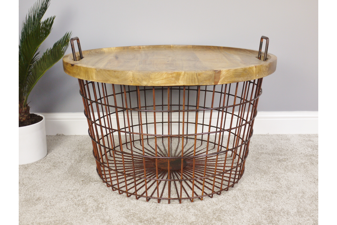 Picture of: Basket Style Coffee Table With Wooden Lid House Proud Online