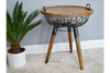 Industrial Fabulous Rustic Eclectic Basket Side Table