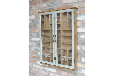 Glass Fronted Antique Style Wall Unit