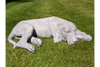 Laying Grey Dog Garden Outdoor Ornament