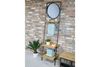Beautiful Mirror Stand with 3 Tier Wood & Metal
