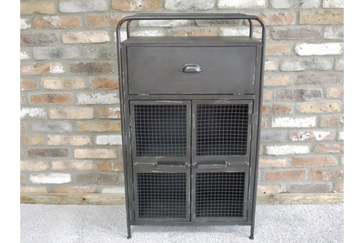 Black Metal Workshop Storage Industrial Cabinet