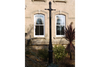 Black Iron Large Ladder Bar Garden Outdoor Lamp Post & Base