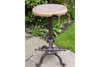 Adjustable metal Stool With Wooden Top