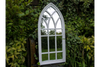 Beautiful Antique White Gothic Arch Mirror