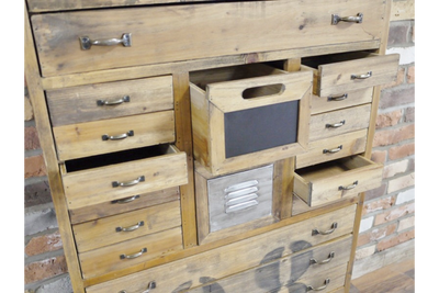 Brixton Metal Cabinet & Wood Industrial Storage Cabinet