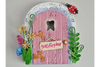 Miniature Metal Tooth Fairy Door Sculpture Ornament