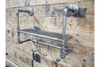 Industrial Style Metal Coat Hook and Shelf