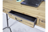 Wooden Industrial Style Narrow Desk 3 Drawers
