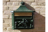 Aluminium Vintage Style Classic Green Wall Post Box