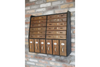 18 Drawer Vintage Dutch Inspired Wall Cabinet