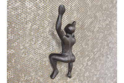 Wall Mounted Black Heavy Black Naked Man Coat Hook