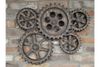 Vintage Industrial Hanging Cog Wall Decoration