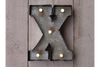 Classic Modern Wall Mounted Rustic Fairground Letter (X)