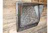 Industrial Wall Mounted Mirror With 5 Hooks
