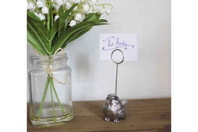 Silver Color Resin Made Bird Name Holder