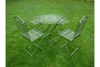 T44 Antique Wire Style Green Table-Chair Set