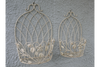 Cream Vintage Metal Wall Outdoor Plant or Herb Baskets