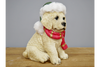 Charming Perfect Gift Christmas Dog Garden Sculpture
