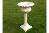 Antique White Formal English Garden Column Urn