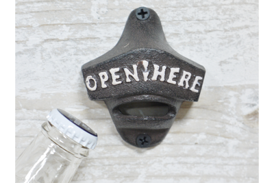 Vintage Rustic Antique Heavy Black Bottle Opener