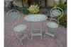 T42's Bistro Style Garden Oval Green Patio Furniture of 3 Set