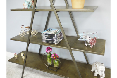 Industrial Gold 3 Tier Metal Freestanding Shelves