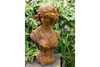 Young Woman Wearing Headband Antique Style Garden Bust
