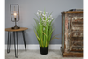 Realistic Decorative Faux Potted Artificial Grass With Flowers
