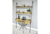 Versatile 2 Drawer Rustic Desk With Shelves
