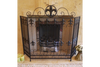 Square Gorgeous Charming Lovely Black Three Fold Fire Screen