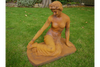 Large Decorative Rustic Looking Decorative Sitting Lady Ornate