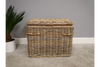 Gorgeous Rattan Wicker Lined Rustic Chest