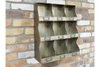 Vintage Rusty Pigeon Hole Wall Unit Storage