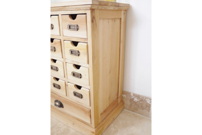Shabby Chic Finished Mahogany Wood Small Drawer Cabinet