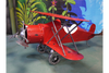 Metal Red Aeroplane Garden Ornament