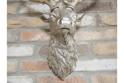 Electro-Plated Cold Cast Resin Stag Head