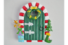 Magical Metal Christmas Santa's  Fairy Door Statue