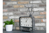 Classic Retro TV Clock Table Indoor Decor