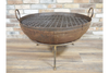 Solid Garden Rustic Outdoor Iron Large Fire Pit
