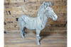 Zebra Garden Indoor Outdoor Grey Color Sculpture Resin