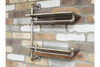 Wooden and Metal Pipe Industrial Shelves