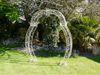 Metal Garden Ornate Design Cream Color Arch