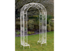 Antique Cream Color Finish Raina Metal Garden Arch