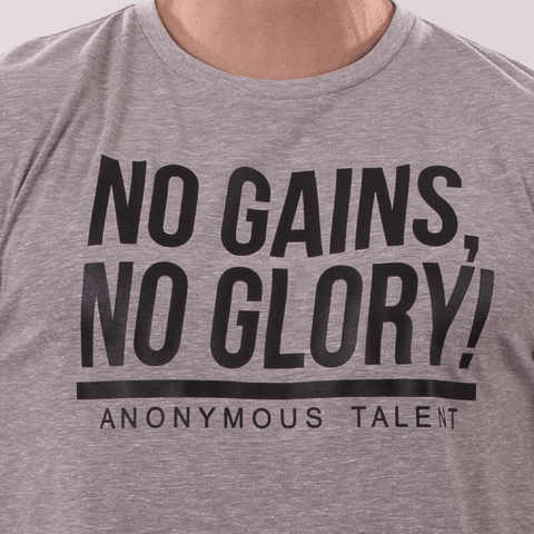 NO GAINS NO GLORY Crew Neck Tee