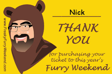 Furry Weekend Confirmation Postcard