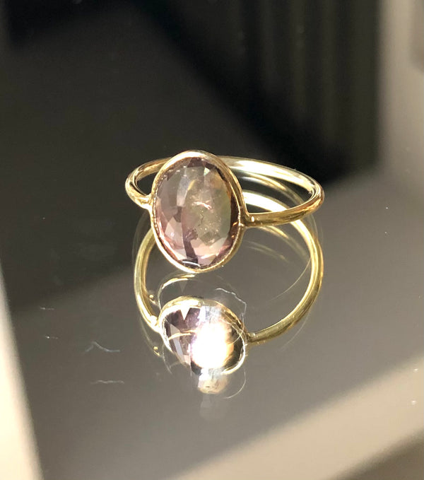 Bague Or Tourmaline Watermelon