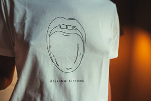 Killing Kittens x Be Fierce Limited Edition T-Shirt - Licked in White