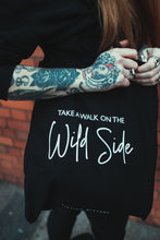Load image into Gallery viewer, Take A Walk On The Wild Side - Black Tote Bag