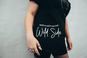 Take A Walk On The Wild Side - Black Tote Bag